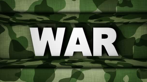 Text válečné vojenské bráně, smyčkou, 4k