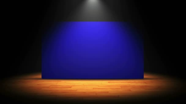 Theater Stage and Blue Screen, with Alpha Channel, 4k