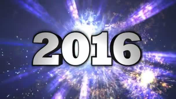 2016, Neujahr, Disco Dance Tunnel, In / Out Text, Loop, 4k
