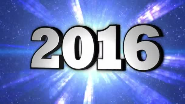 2016, nový rok, Disco Dance tunel, rotace, Text, smyčka, 4k