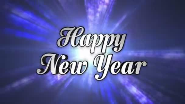 Frohes neues Jahr, Text im Discotanz-Tunnel, ein / aus, Loop, mit Alphakanal, 4k