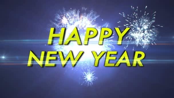 Šťastný nový rok a ohňostroje, Loop, 4k