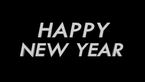Frohes neues Jahr und Lichter Übergang, mit Alpha-Kanal, Schleife, 4k