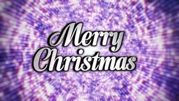 Frohe Weihnachten Text im Disco Dance Tunnel, ein / aus, Schleife, mit Alphakanal, 4k