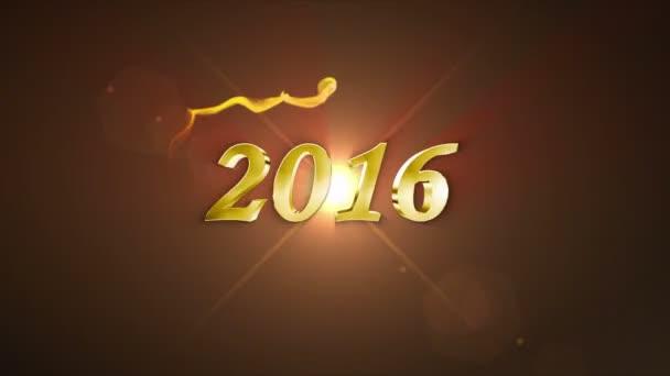 2016 Goldjahr in Teilchen schnell, 4k