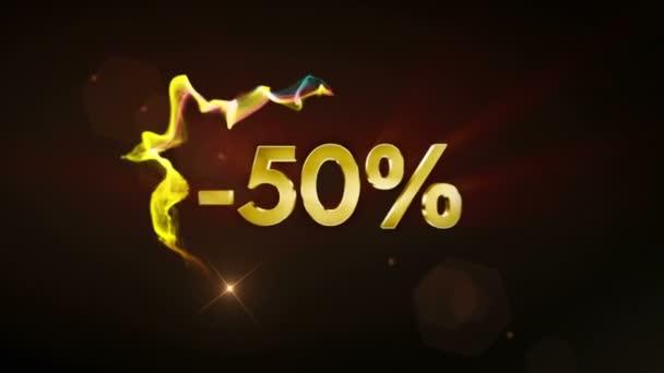 -50% Discount Text Concept, 4k