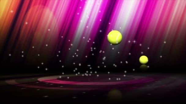 Klesající tenisový míček a poslední bílý přechod (3 varianty), 4k