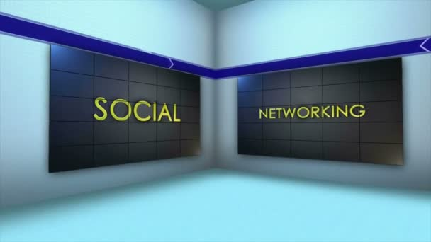 Social Network Keywords, in Monitors and Room, Loop, 4k