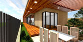 a modern house, eredeti design 3D render