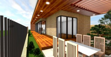 3d render of modern house,original design