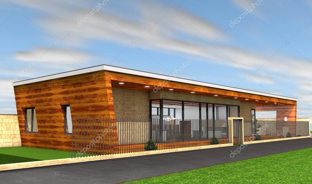 3d render van moderne huis oorspronkelijke ontwerp u2014 stockfoto