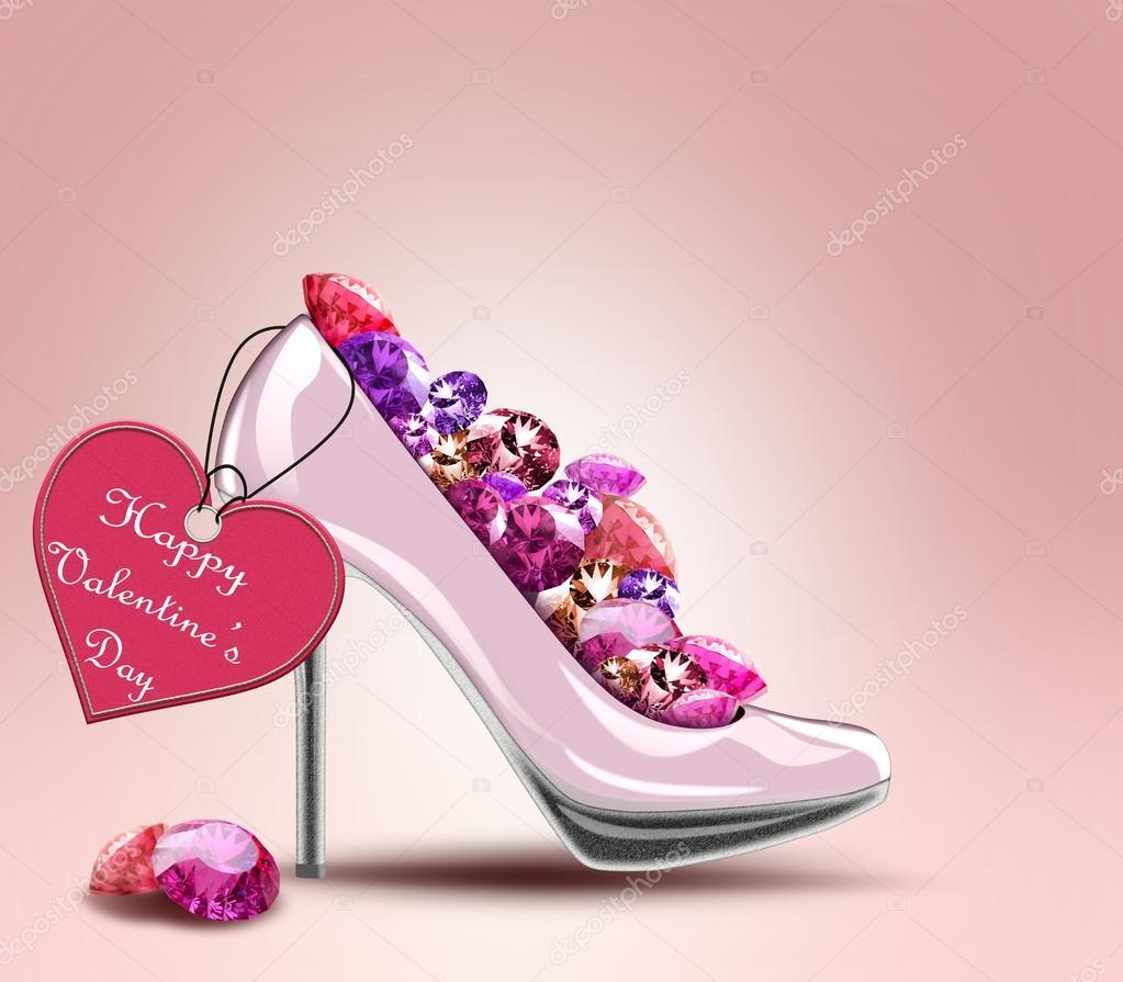 Par de zapatos con la etiqueta, símbolo de compromiso, boda, día de ...