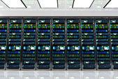 Fotografie Serverraum in Rechenzentrum, Zimmer ausgestattet mit Datenserver