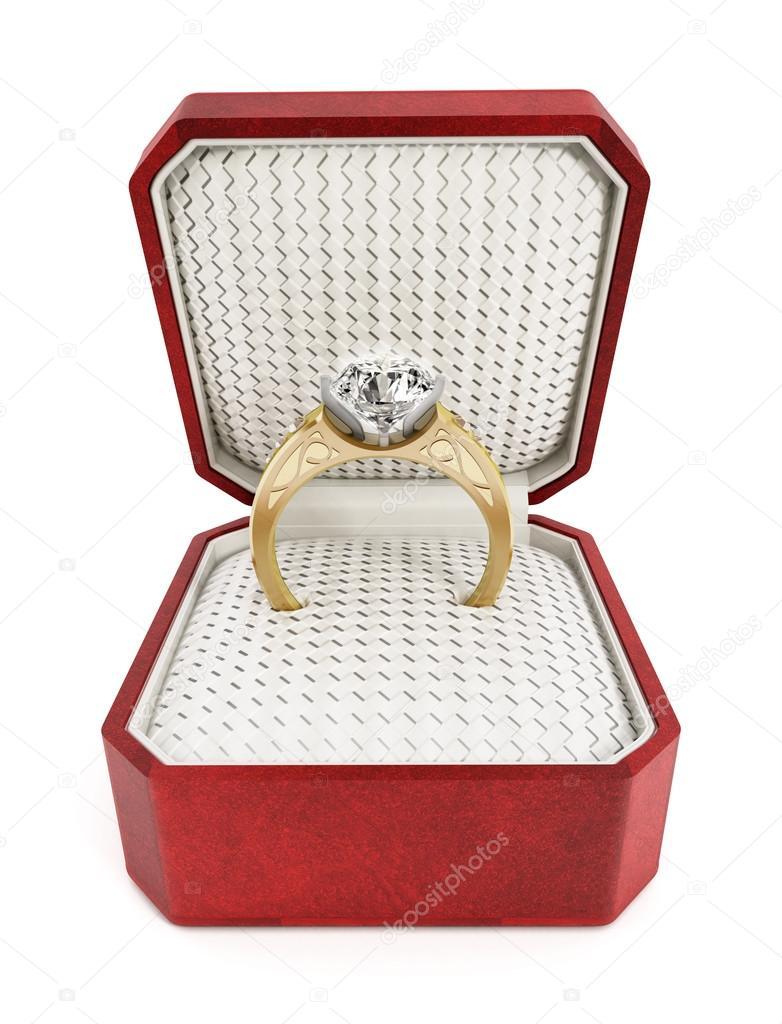 Engagement ring in the box — Stock Photo © destinacigdem #65311517