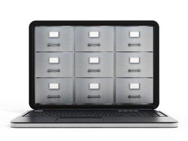 Laptop computer data storage concept
