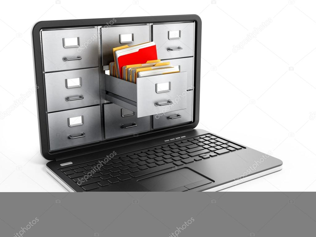 Laptop computer data storage concept