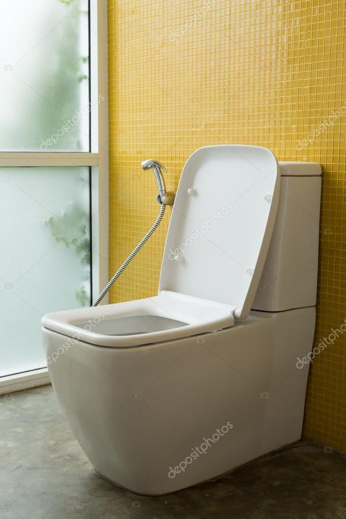 Maison moderne intérieur toilette — Photographie Sutichak ...