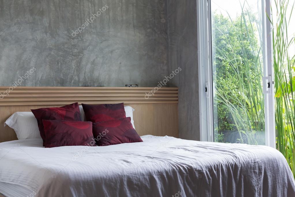 Style moderne de design d\'intérieur chambre à coucher ...