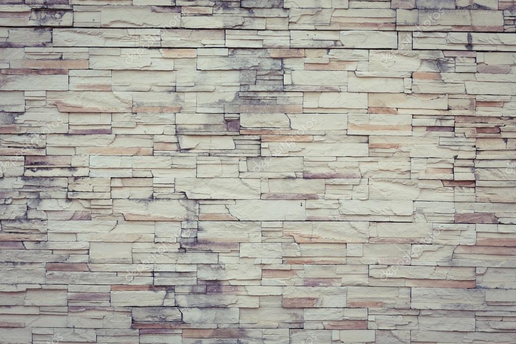 Piedra blanca vintage de pared textura papel pintado - Pared interior de piedra ...