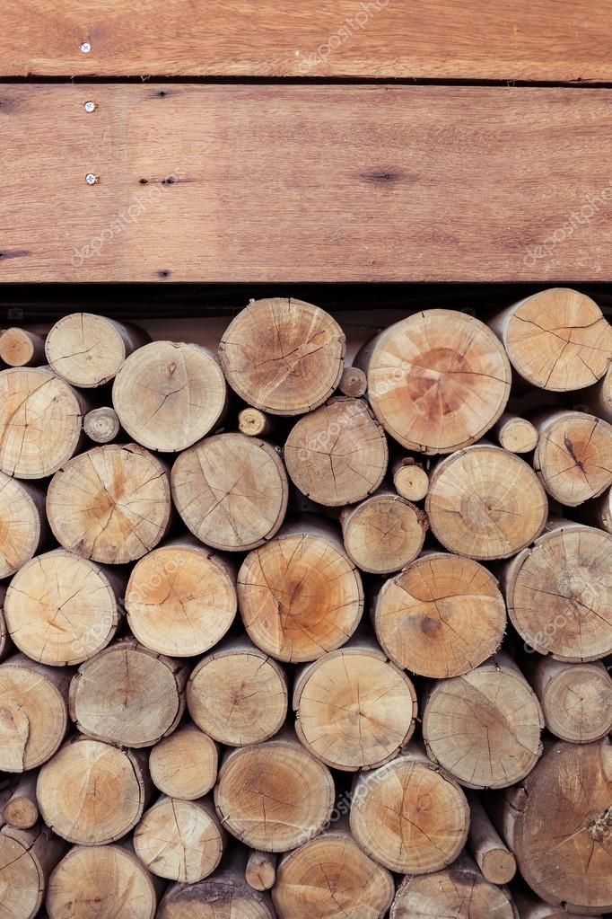Pile Of Wood Logs Storage For Industry U2014 Stock Photo