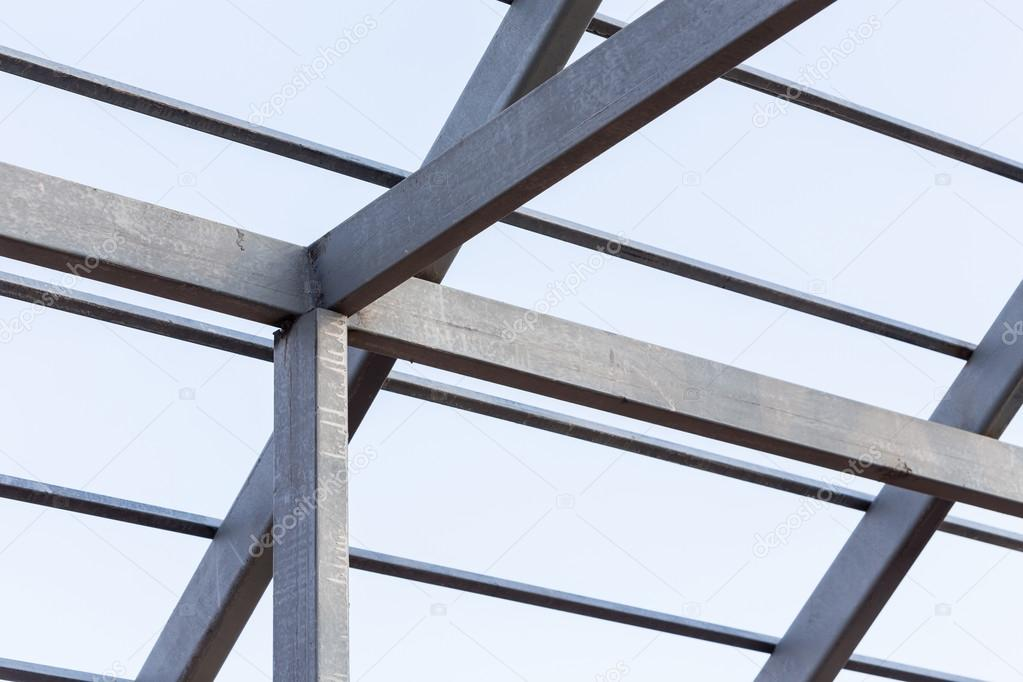 Steel beams roof truss residential building construction for Roof truss sign