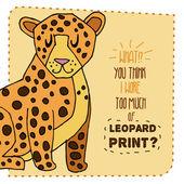Leopardí ručně nakresleného obrázku. Vektorové ilustrace