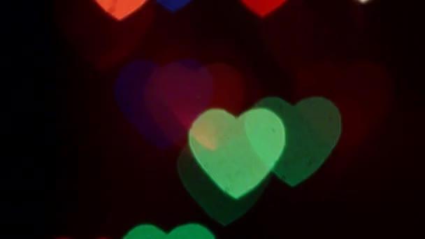 Flashing Hearts Move Up Light Background