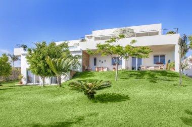 Modern white villa