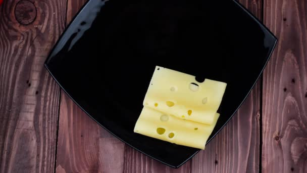 Cook Puts Cheese and Salami on a Plate. a Restaurant. Top View.