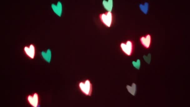 Flashing a garland in the form of heart.
