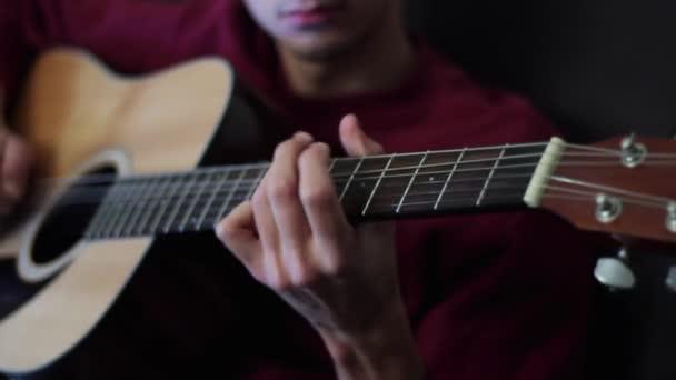 Professional Jazz Musician Playing an guitar.