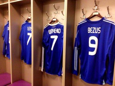Footballers t-shirt in Kiev Olympic Stadium
