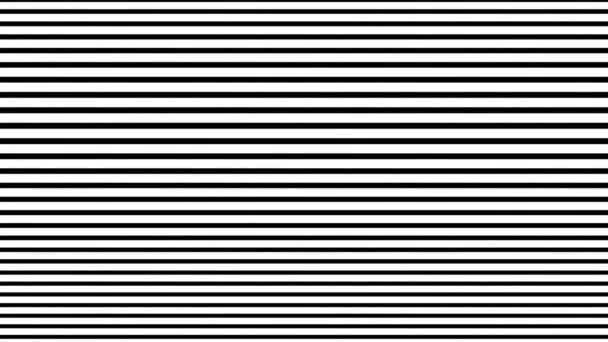 Mozgó vízszintes vonalak. Optikai minta háttér. Csíkos textúra animáció.