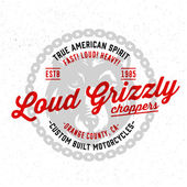 Fotografia Loud Grizzly Choppers t shirt graphics
