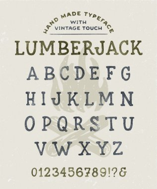 Font 'Lumberjack' Watercolor Version