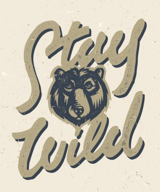 Stay Wild vintage t shirt graphics