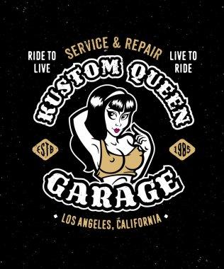 Vintage motorcycle auto garage design