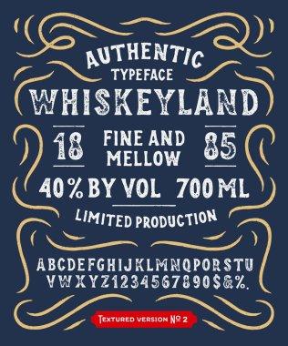 Handmade Typeface Whiskeyland