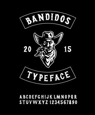 Original Hand Crafted Typeface 'Bandidos'