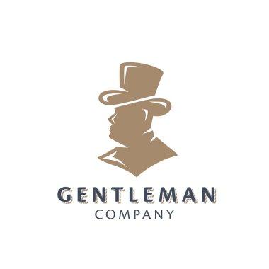 Gentleman Half Face Silhouette Symbol