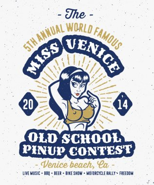 Vintage pin up contest print