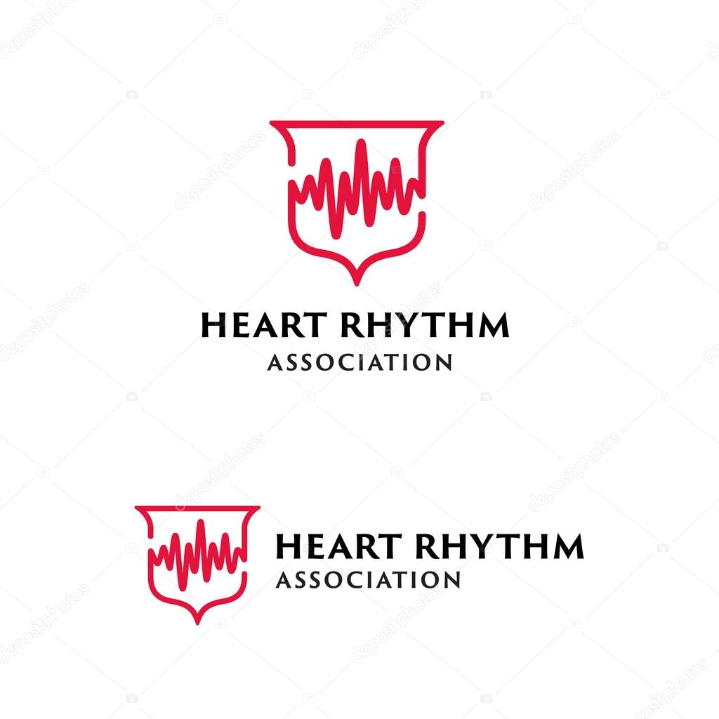 Heart Beat Shield Medical Symbol