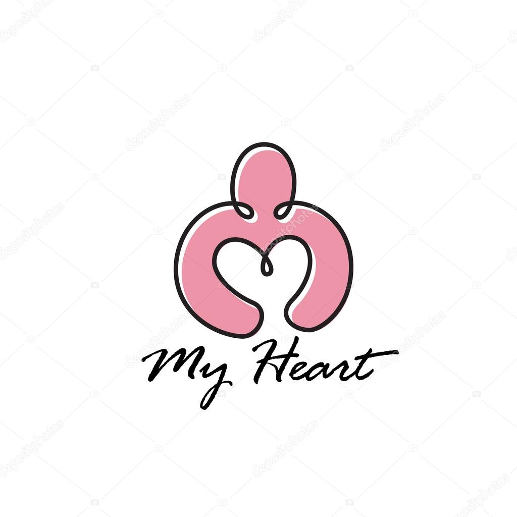 Person Holding Heart Original Symbol