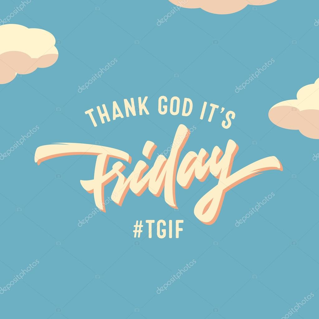Thank God Its Friday Stock Vector Tortugastudio 114966658