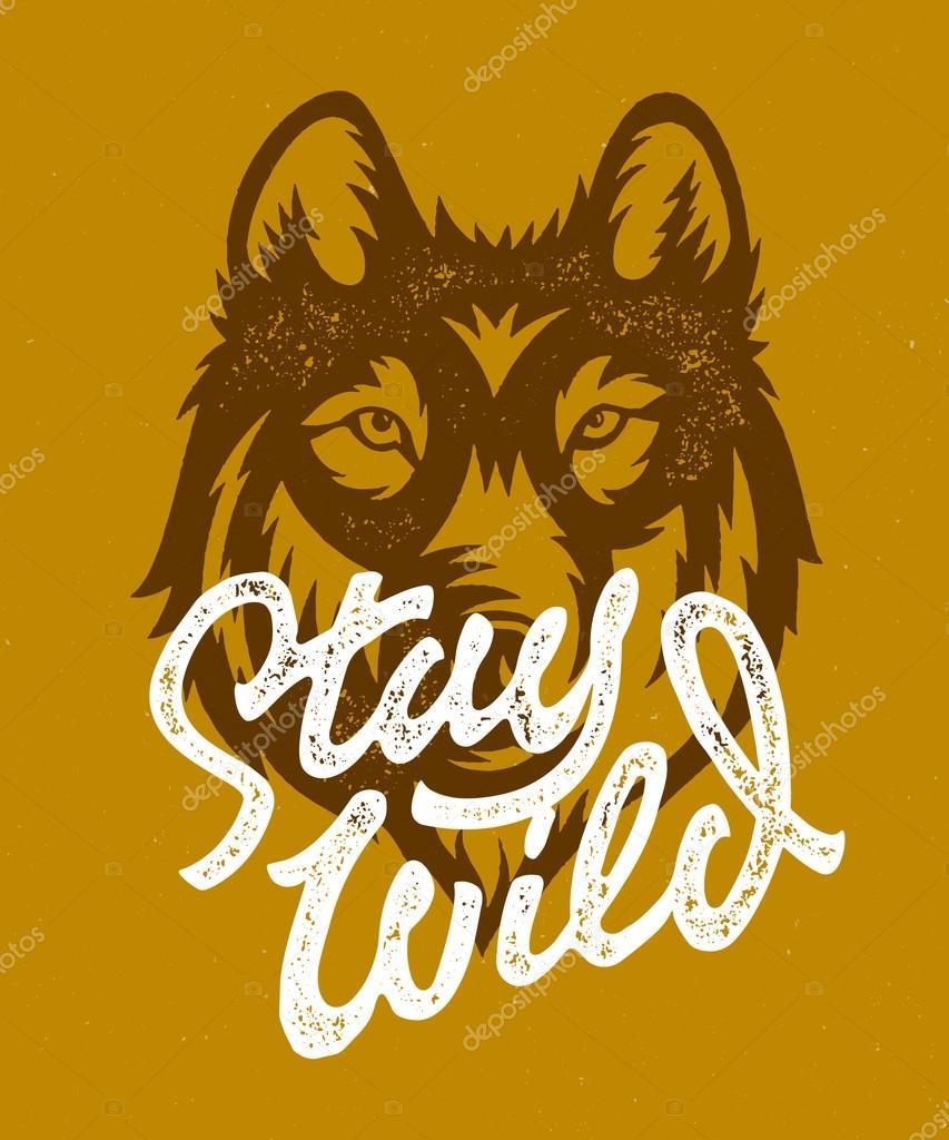 Stay Wild vintage graphics — Stock Vector © tortugastudio #114967094