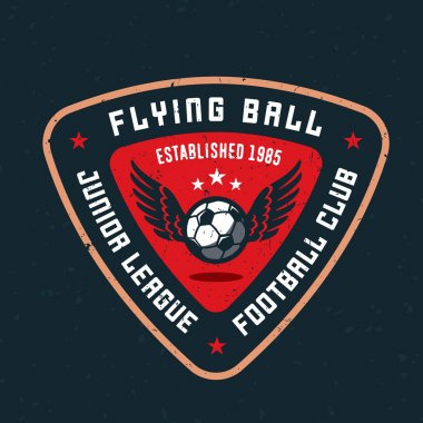 Flying ball soccer clud t-shirt