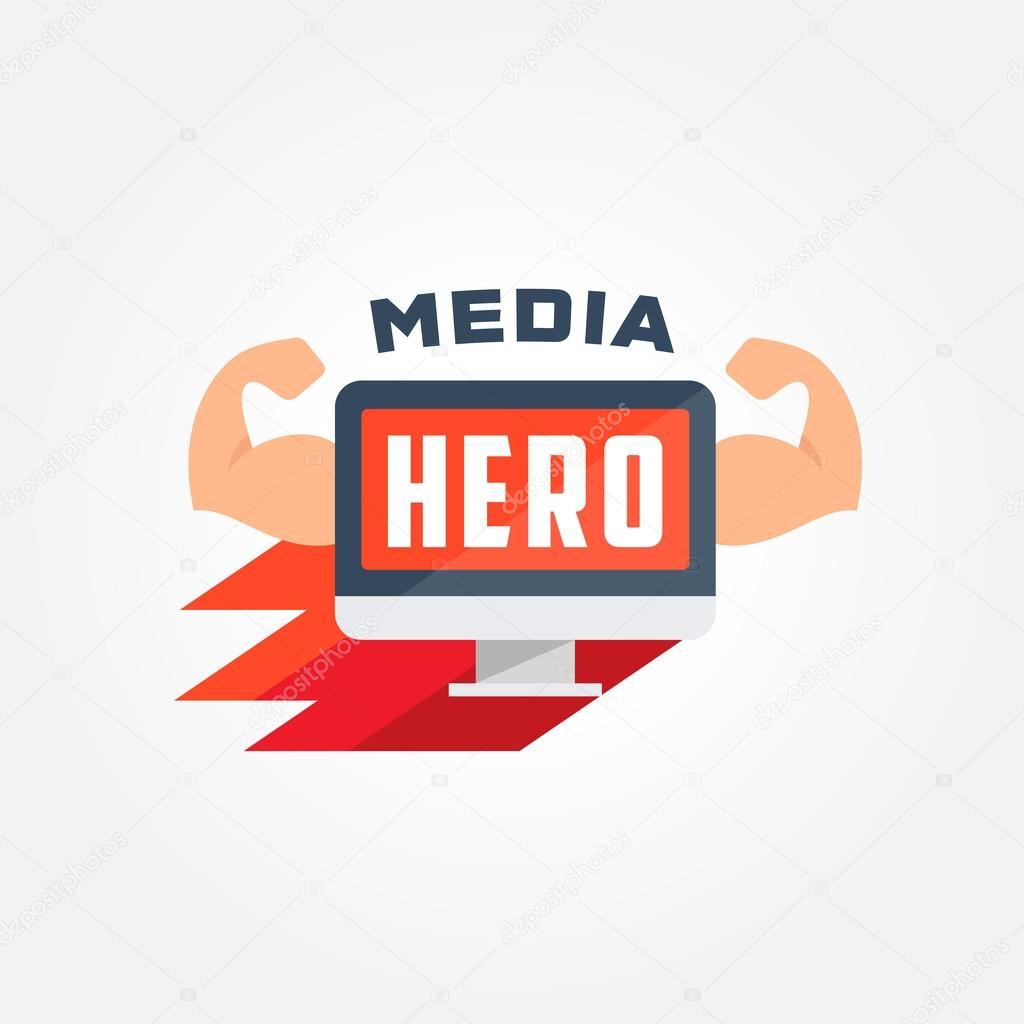 super hero personal computer logo ストックベクター tortugastudio