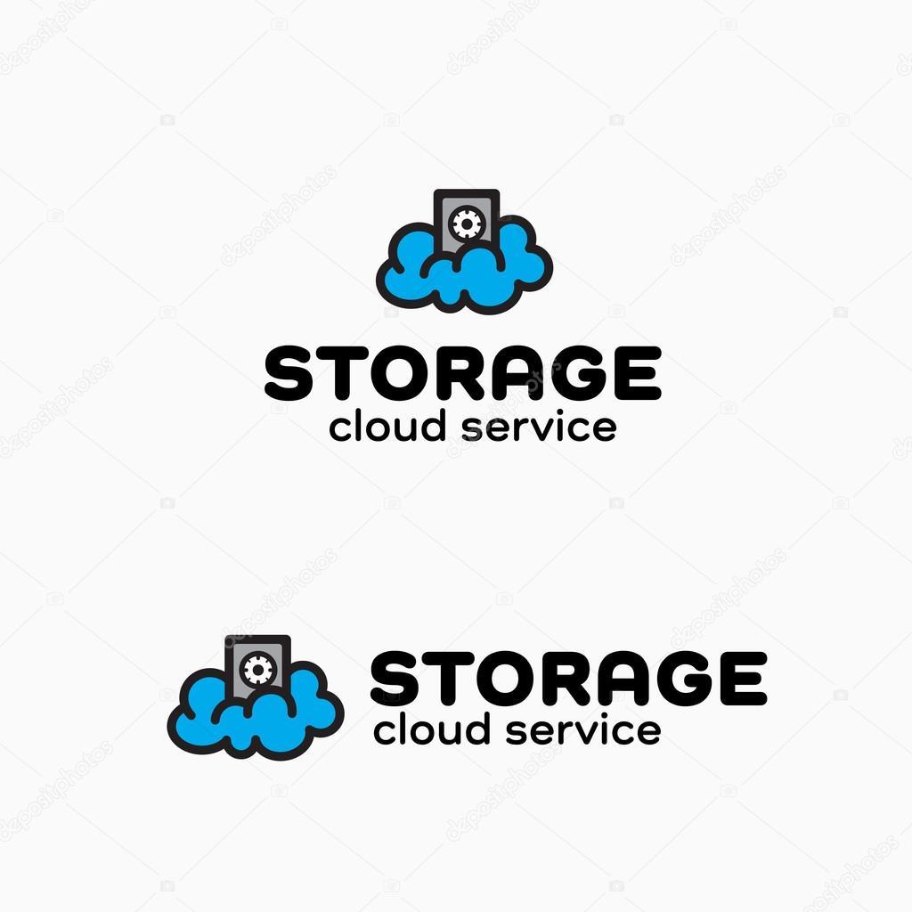 Cloud Storage Original Graphic Symbol Stock Vector 114971992