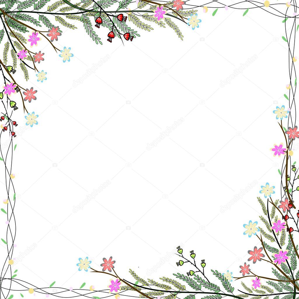 marco de flor natural — Foto de stock © Tonktiti #111228752
