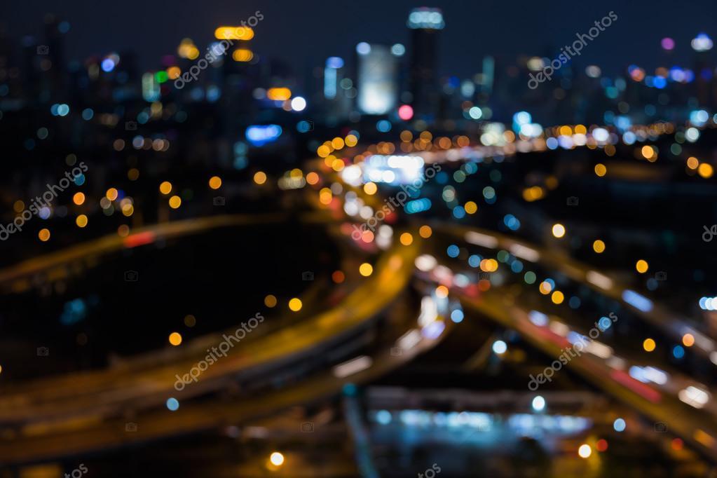 Bokeh ışık Arka Plan şehir şehir Arka Plan Stok Foto Pranodhm
